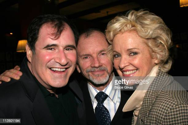 Richard Kind Bill Moloney and Christine Ebersole during Glengarry Glen Ross Broadway Opening Night Curtain Call and After Party at The Royale Theater...