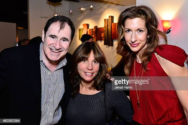 Richard Kind CEO of the Creative Coalition Robin Bronk and Aylsia Reiner attend IMDB's annual STARmeter award dinner party on January 26 2015 in Park...