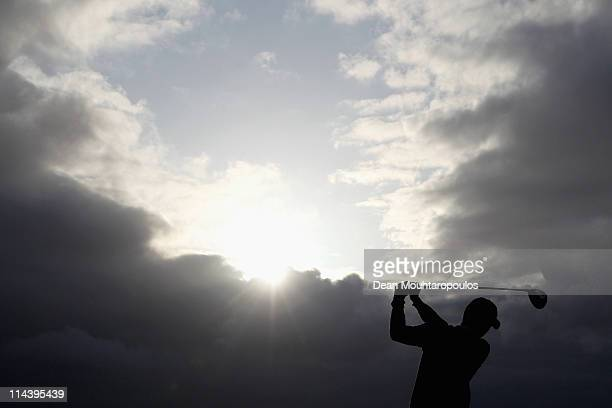 Richard Kind of the Netherlands warms up on the 1st tee during day one of the Madeira Islands Open on May 19 2011 in Porto Santo Island Portugal