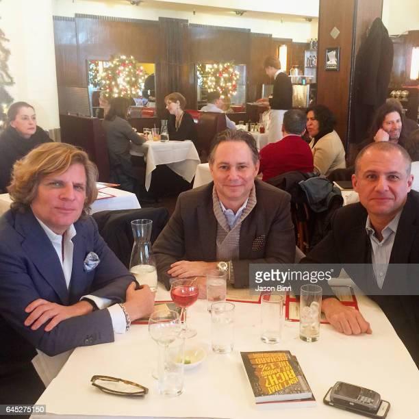 Richard Kirshenbaum, Jason Binn, Ronn Torossian circa December 2016 in New York City.