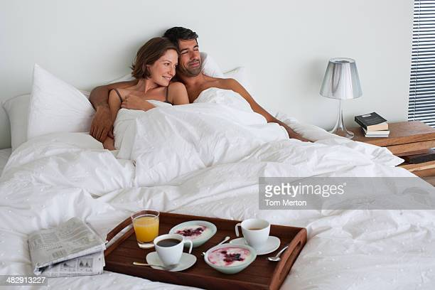 Richard & Kirstin breakfast in bed -049