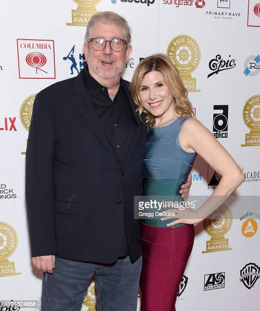 Richard Kraft and Nicole Greenwood attend the 9th Annual Guild Of Music Supervisors Awards at The Theatre at Ace Hotel on February 13 2019 in Los...