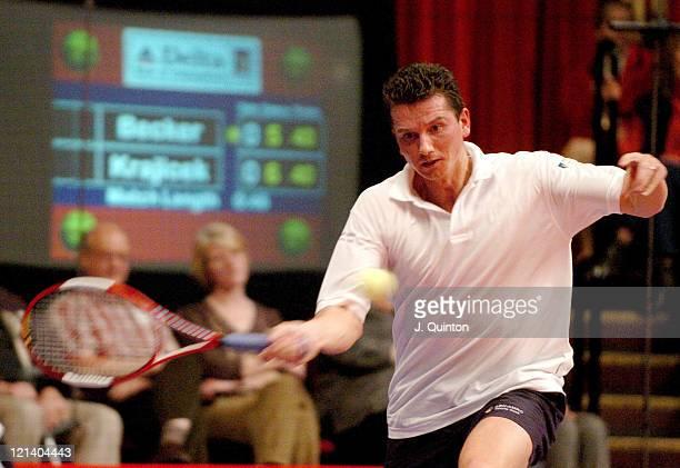 Richard Krajicek during his match against Boris Becker during the The Masters Tennis Championship at Royal Albert Hall, London, Great Britain on...