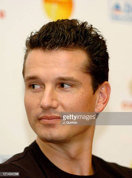Richard Krajicek during The Masters Tennis - Press Conference at London Hilton in London, Great Britain.