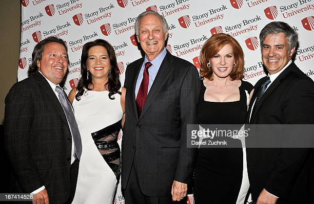 Richard L Gelfond Peggy Gelfond Alan Alda Liz Claman and Jeff Kepnes attend the 2013 Stars Of Stony Brook Gala at Pier 60 on April 24 2013 in New...