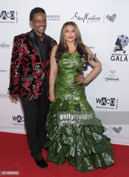 Richard Lawson and Tina Knowles attend the Wearable Art Gala at California African American Museum on April 29 2017 in Los Angeles California