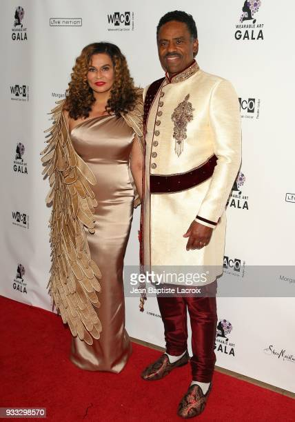 Richard Lawson and Tina Knowles attend WACO Theater's 2nd Annual Wearable Art Gala on March 17 2018 in Los Angeles California