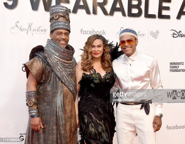 Richard Lawson Tina KnowlesLawson and Maxwell arrive at the WACO Theater Center's 3rd Annual Wearable Art Gala at The Barker Hangar at Santa Monica...