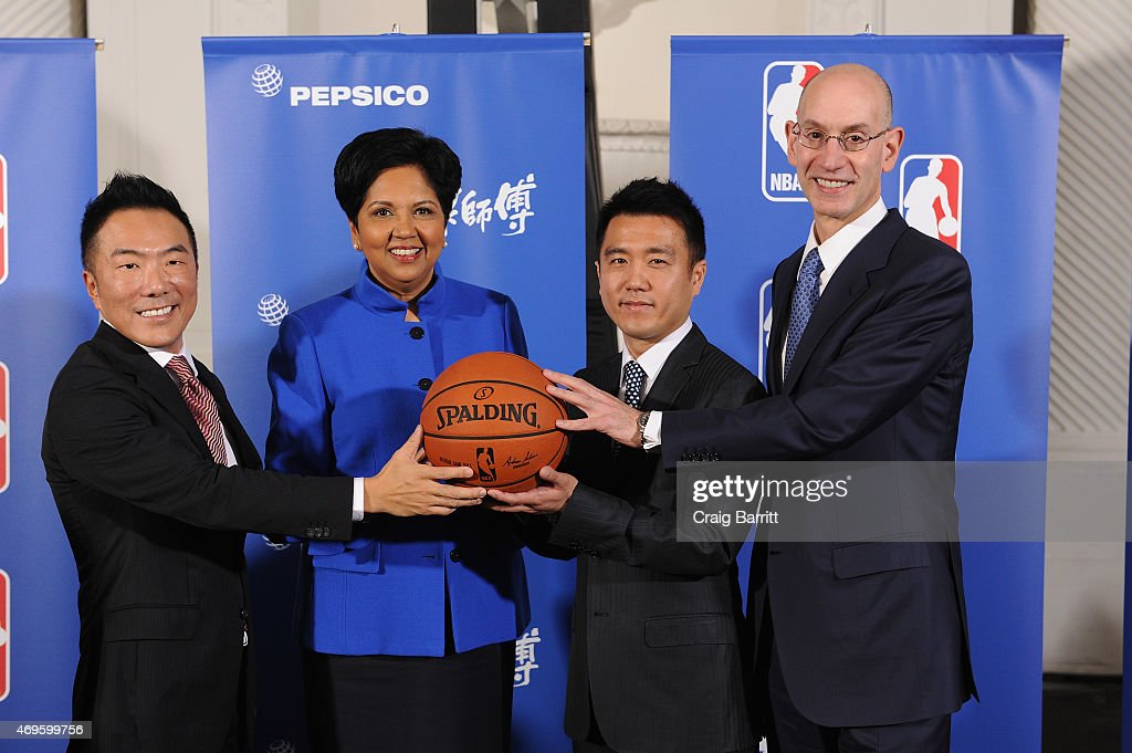 PepsiCo NBA Press Event with Athletes/Celebrities : News Photo