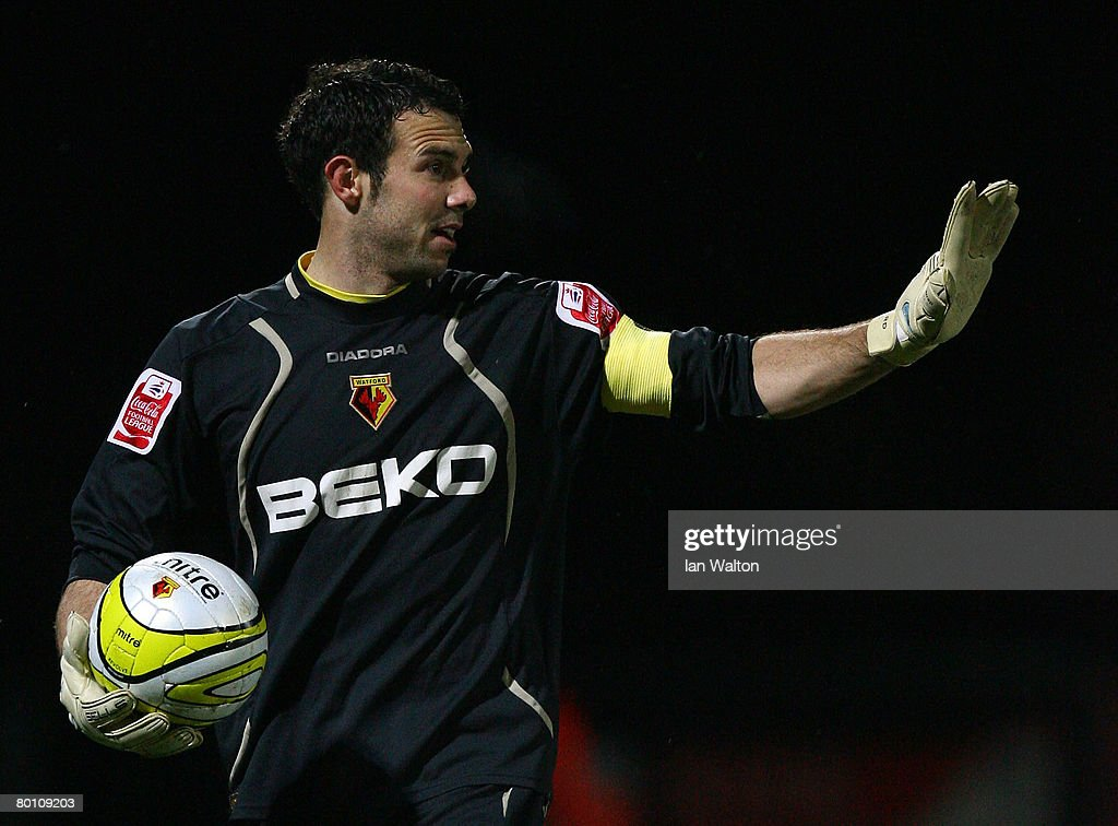 Richard Lee of Watford in action during the Coca Cola Championship match between Watford and Norwich City at Vicarage Road on March 04, 2008 in Watford, England.