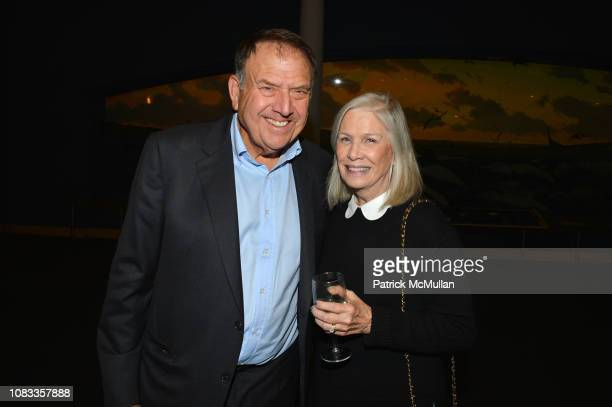Richard LeFrak and Anne Nordeman attend Publication Party For Karen LeFrak's New Book Sleepover At The Museum at Milstein Hall of Ocean Life at the...