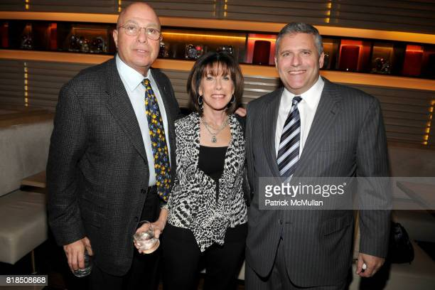 Richard Leibner Carol Cooper Phil Kent attend the Reception For DR SANJAY GUPTA's Book and DVD 'CHEATING DEATH' at Rogue Tomate on December 14 2009...