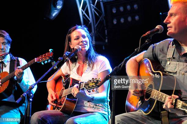 Richard Leigh, Joey Martin Feek and Rory Lee Feek play the Night the Stars Came Out for Kaleb benefit concert at 12th And Porter Club on July 6, 2011...