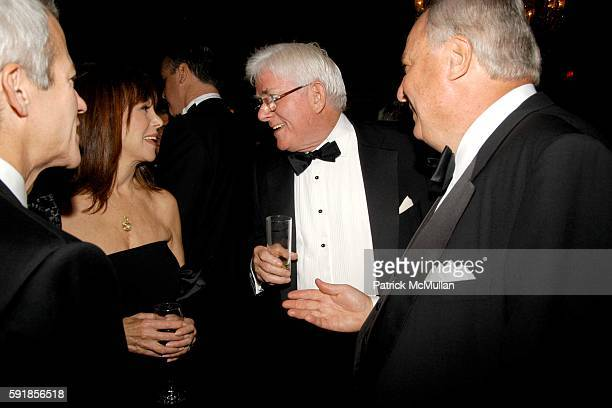 Richard Lenny Marlo Thomas Phil Donahue and Roy Zimmerman attend The New York Society for the Prevention of Cruelty to Children Annual Gala at The...
