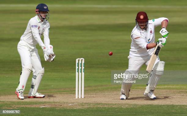 Richard Levi of Northamptonshire bats during the Specsavers County Championship Division Two match between Northamptonshire and Gloucestershire at...