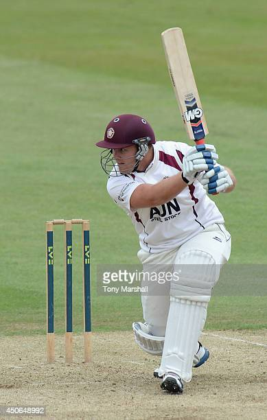 Richard Levi of Northamptonshire batting during the LV County Championship match between Northamptonshire and Warwickshire at The County Ground on...