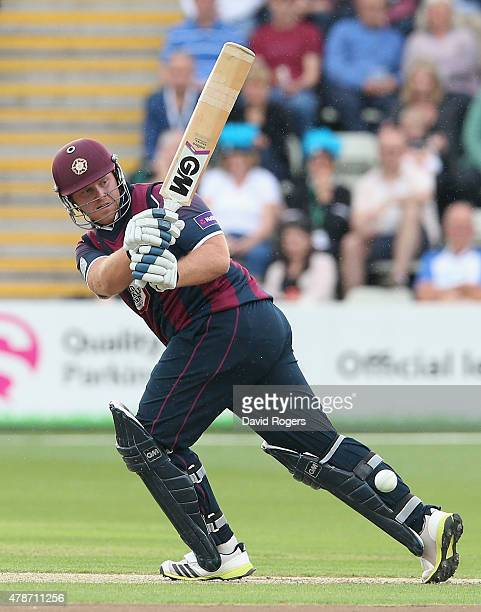 Richard Levi of Northants pulls the ball for four runs during the NatWest T20 Blast match between Worcestershire Rapids and Northamptonshire...