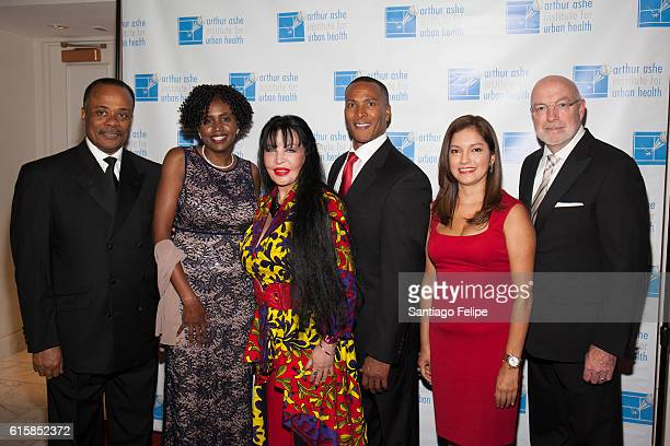 Richard Levychin Dr Marilyn Fraser Loreen Arbus Mike Wood Ines Rosales and Patrick J McGovern attend the 22nd Annual Black Tie Sneakers Gala at Grand...