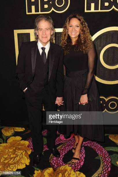 Richard Lewis and Joyce Lapinsky arrives at HBO's Official 2018 Emmy After Party on September 17 2018 in Los Angeles California