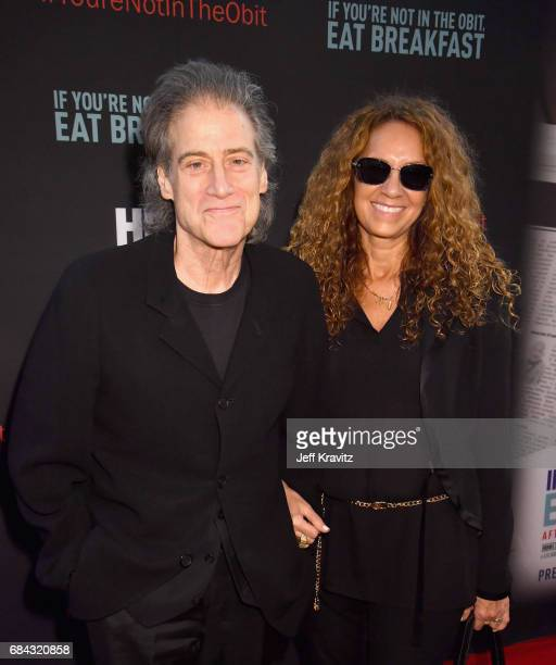 Richard Lewis and Joyce Lapinsky at the LA Premiere of If You're Not In The Obit Eat Breakfast from HBO Documentaries on May 17 2017 in Beverly Hills...
