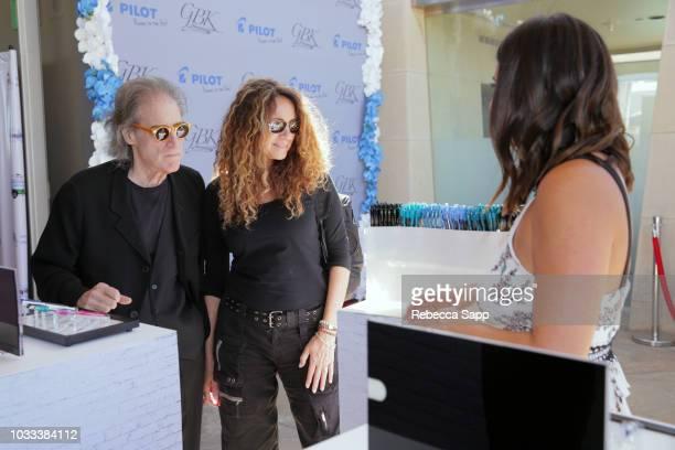 Richard Lewis and Joyce Lapinsky attend Pilot Pen GBK Celebration Lounge Day 1 at LÕErmitage on September 14 2018 in Beverly Hills California