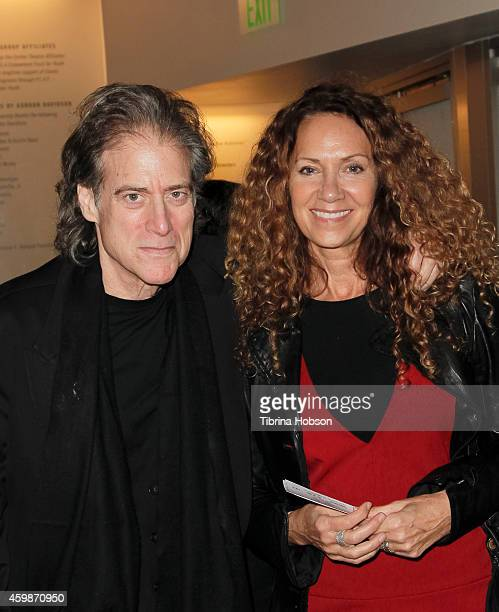 Richard Lewis and Joyce Lapinsky attend the Goodman Theatre's opening night performance of 'Luna Gale' at Kirk Douglas Theatre on December 2 2014 in...