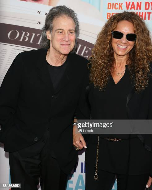 Richard Lewis and Joyce Lapinsky attend the premiere of HBO's 'If You're Not In The Obit Eat Breakfast' on May 17 2017 in Beverly Hills California