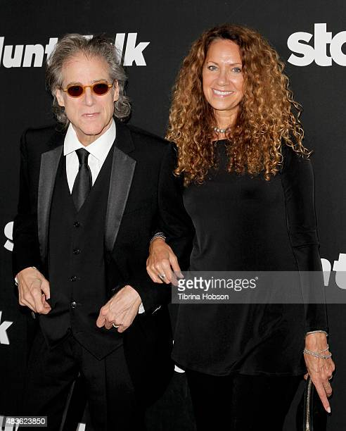 Richard Lewis and Joyce Lapinsky attend the premiere of STARZ 'Blunt Talk' at DGA Theater on August 10 2015 in Los Angeles California