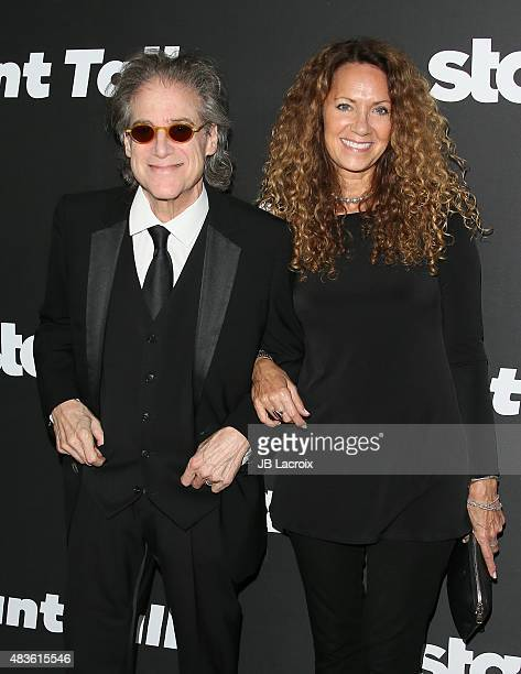 Richard Lewis and Joyce Lapinsky attend the STARZ' 'Blunt Talk' series premiere on August 10 2015 in Los Angeles California
