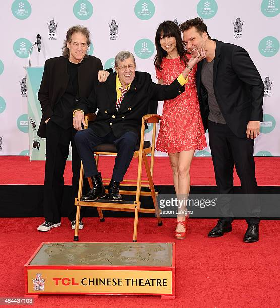 Richard Lewis Jerry Lewis Illeana Douglas and Dane Cook attend Lewis' Hand And Footprint Ceremony at TCL Chinese Theatre IMAX on April 12 2014 in...