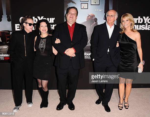Richard Lewis Susie Essman Jeff Garlin Larry David and Cheryl Hines attend the 7th season premiere of HBO's Curb Your Enthusiasm at Paramount Theater...