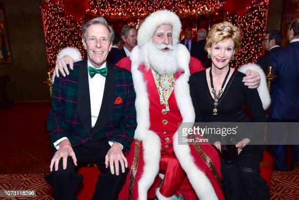 Richard Lewisohn Santa Claus and Jackie Weld Drake attend George Farias Anne Jay McInerney Host A Holiday Party at The Doubles Club on December 13...