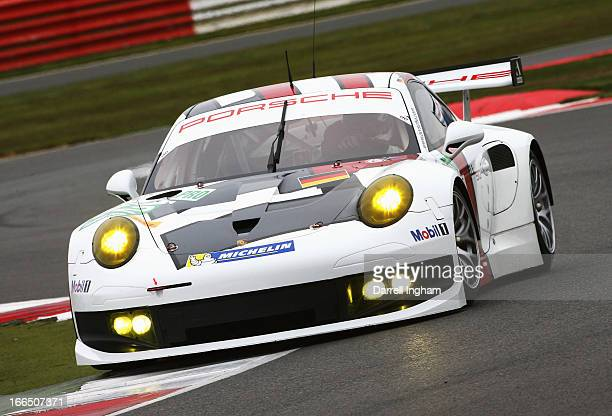 Richard Lietz of Germany drives the Porsche AG Manthey Porsche 911 RSR during practice for the FIA World Endurance Championship 6 Hours of...