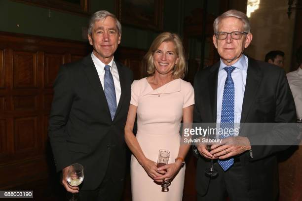 Richard Lifton Deborah Lifton and Tom Maniatis attend Pershing Square Sohn 4th Annual Prize Dinner at Park Avenue Armory on May 24 2017 in New York...