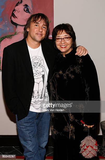 """Richard Linklater and Ann Carly attend the after party for The Cinema Society with Screenvision & Brooks Brothers screening of """"Me And Orson Welles""""..."""