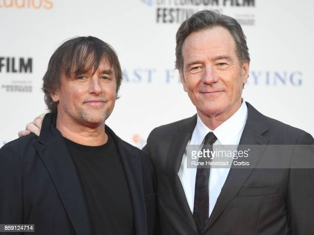 Richard Linklater and Bryan Cranston attend the Headline Gala Screening International Premiere of 'Last Flag Flying' during the 61st BFI London Film...
