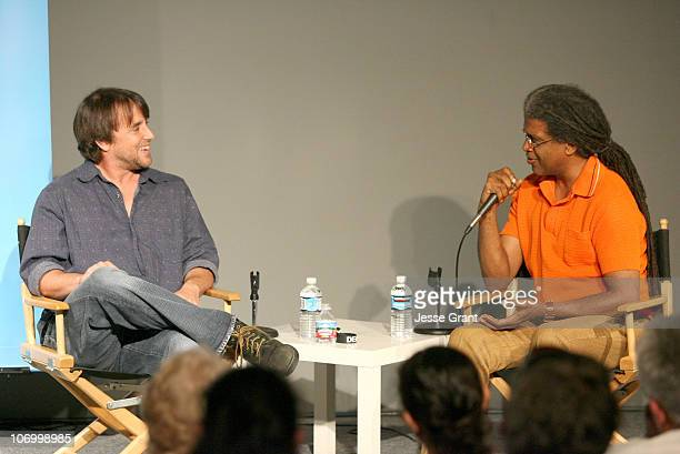 Richard Linklater and Elvis Mitchell during 2006 Los Angeles Film Festival Festival Talks Conversation with Richard Linklater at Italian Cultural...