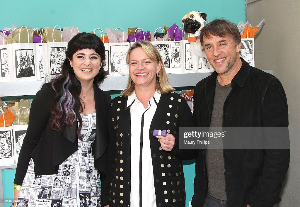 Richard Linklater (R) and guest attend GBK 2015 Pre-Oscar Awards luxury gift lounge on February 20, 2015 in Los Angeles, California.