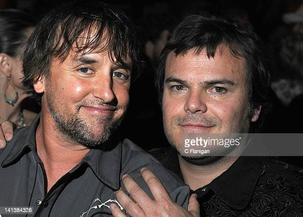 Richard Linklater and Jack Black attend the Bernie After Party during the 2012 SXSW Film Festival at Ale House on March 14 2012 in Austin Texas