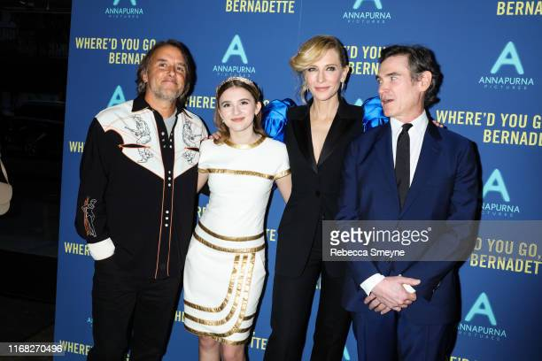 "Richard Linklater, Emma Nelson, Cate Blanchett and Billy Crudup attend a special screening of ""Where'd You Go Bernadette"" at Metrograph on August 12,..."