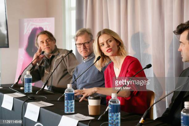 Richard Linklater John Lee Hancock Brooklyn Decker and Ron Livingston attend the 2019 Texas Film Awards Press Conference at The LINE Austin on March...