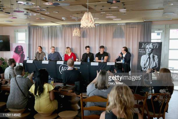 Richard Linklater John Lee Hancock Brooklyn Decker Ron Livingston Robert Rodriguez and Steven Gaydos attend the 2019 Texas Film Awards Press...