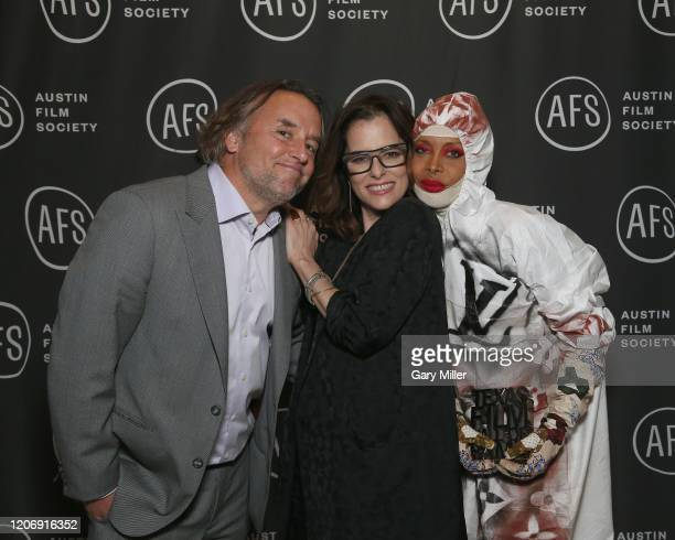 Richard Linklater Parker Posey and Erykah Badu attend the Austin Film Society's 20th annual Texas Film Awards at Creative Media Center at Austin...