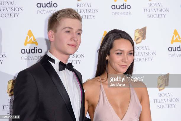 Richard Linnell and Nadine Mulkerrin attend the Royal Television Society Programme Awards on March 21 2017 in London United Kingdom