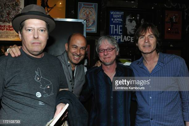 Richard Lloyd guitarist and founding member of the rock band Television fashion designer John Varvatos Mike Mills the bass player for REM and Big...