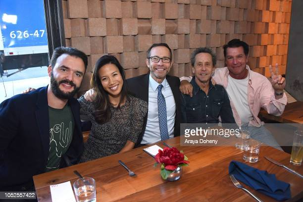 Richard Lovett Brian Grazer and Eddie Braun attend Communities In Schools LA 'Lunch With a Leader' on October 19 2018 in West Hollywood California