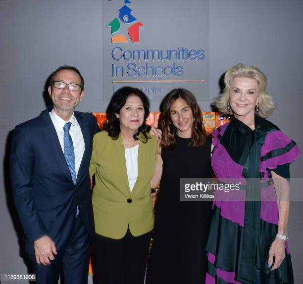 Richard Lovett LA County Supervisor Hilda Solis Executive Director of Communities In Schools of Los Angeles Deborah Marcus and Elaine Wynn attend...