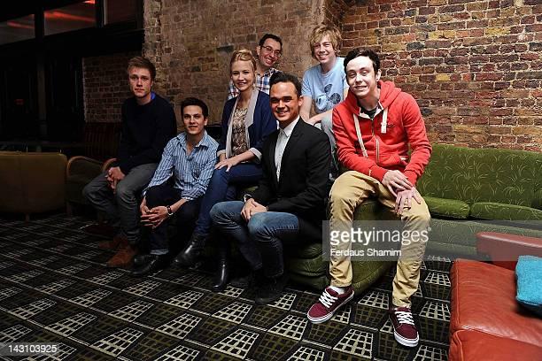 Richard Lowe, Aaron Sidwell, Eliza Hope Bennett, Elliot Davis, James Bourne, Gareth Gates and Lil' Chris part of the Loserville ensemble meet the...