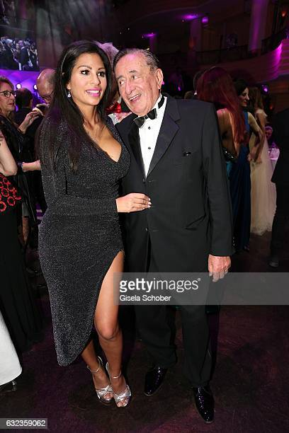 Richard Lugner and 'Bambi' Nina Bruckner dance during the 44th German Film Ball 2017 party at Hotel Bayerischer Hof on January 21 2017 in Munich...
