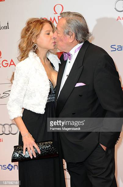 Richard Lugner and girlfriend Anastasia 'Katzi' Sokol attend the German Filmball at the Hotel Bayerischer Hof on January 21 2012 in Munich Germany
